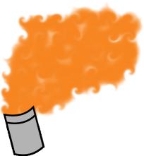 図.オレンジ煙